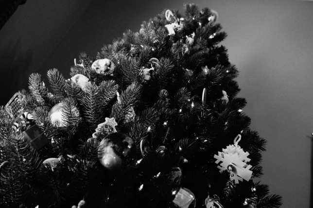 Black White Christmas Depression