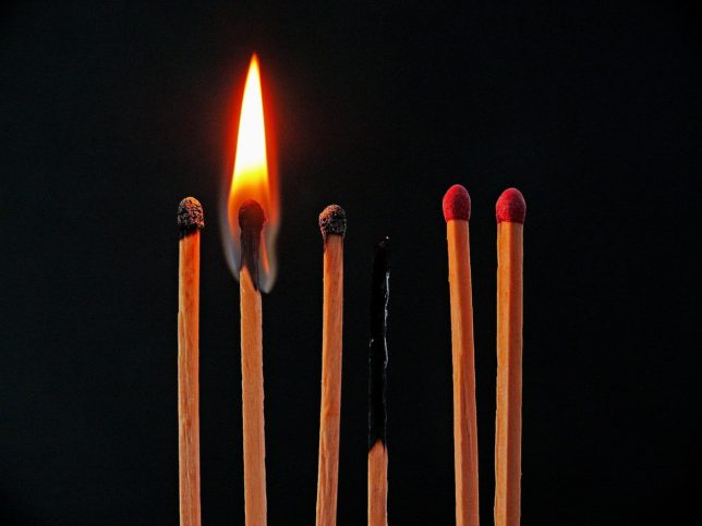 Matches Flame Burn